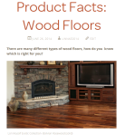 Product Facts: Wood Floors